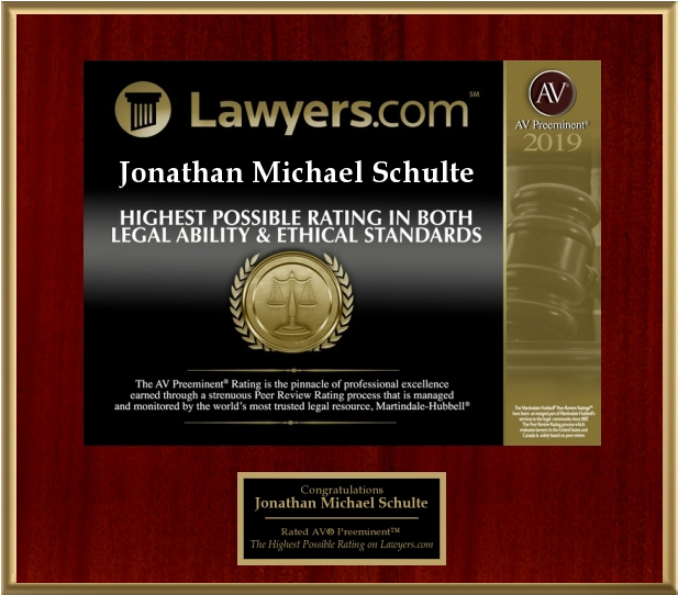 Lawyers.com Highest Possible Rating in Both Legal Ability and Ethical Standards 2019