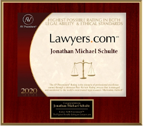 Lawyers.com AV Preeminent Rating 2020 Jon Schulte